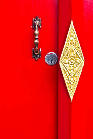 red door in Wat pho. photo