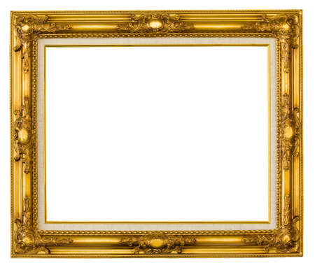 Gold picture frame 版權商用圖片