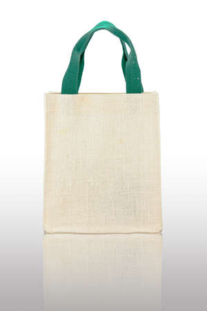 Canvas bag on a white background photo