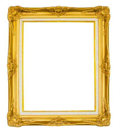 Vintage golden picture frame  版權商用圖片