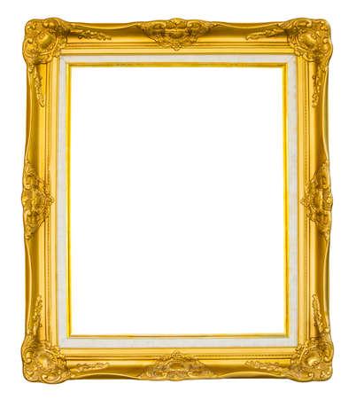 Vintage golden picture frame  Stockfoto