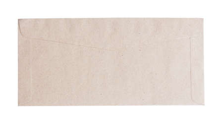 brown envelope isolated on the white background Stock Photo - 13341698