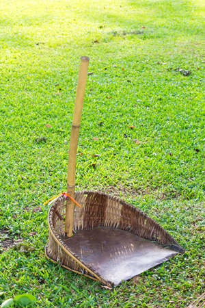 That garbage made from bamboo photo