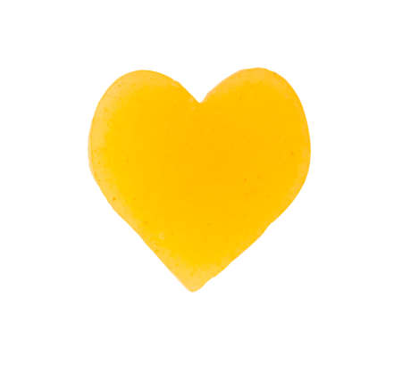 angel alone: Heart gold on a white background