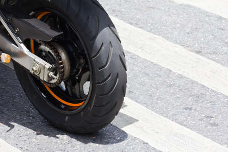 black Motorcycle wheel details tire photo