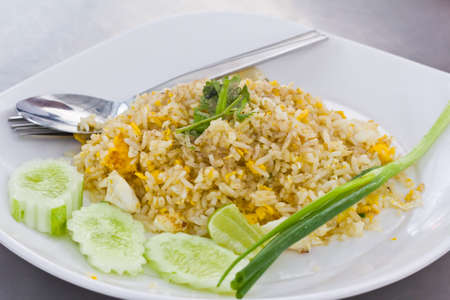 Arroz frito en Bangkok Tailandia photo