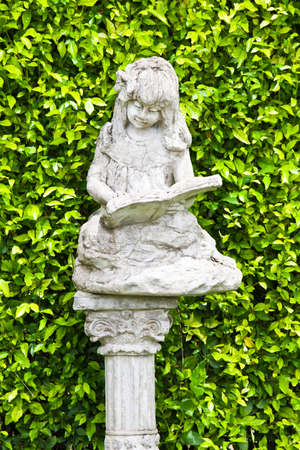 Ancient statues and leaves background  Stock Photo - 15237593