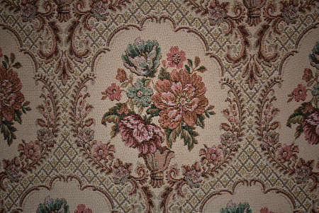 Old fabric floral photo