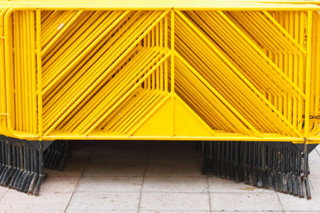 Steel traffic barricades  photo