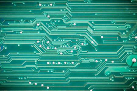 Closeup of circuit board  photo