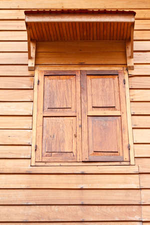 Wooden window in Thailand  photo