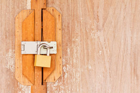 locked old wooden door  Stock Photo - 17687595