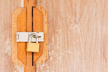 locked old wooden door Stock Photo - 17687595