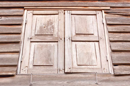 Old wooden door in local Thailand  Thailand style  photo