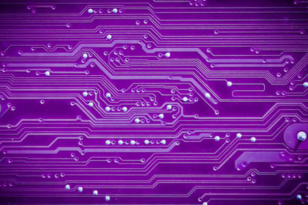 Closeup of circuit board photo