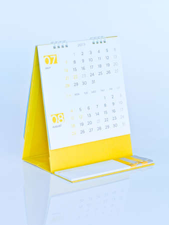 Desktop calendar Stock Photo