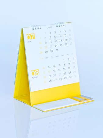 schedule appointment: Desktop calendar Stock Photo