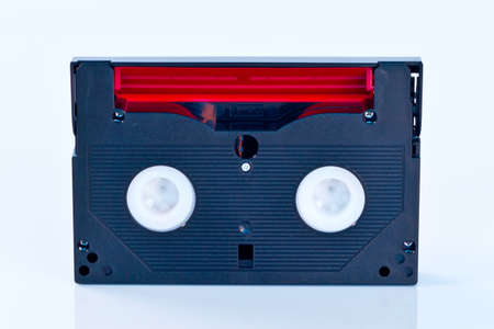 Tape recording on white background photo