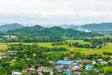 ratchaburi: Aerial view of a village in Ratchaburi, Thailand