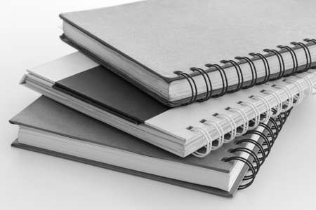 stack of hard cover note book  photo