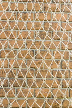 Rope Netting On The Wall  photo
