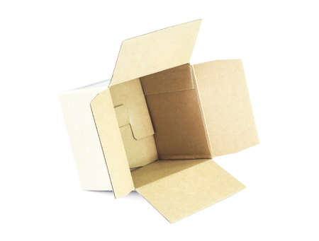 carboard box: Carboard Box isolated on the white  Stock Photo