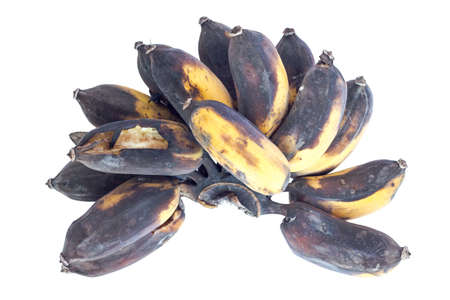 Brown Over Ripe Banana isolated against white background