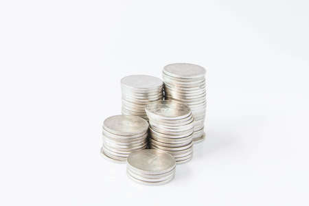 money coins pile in banking concept