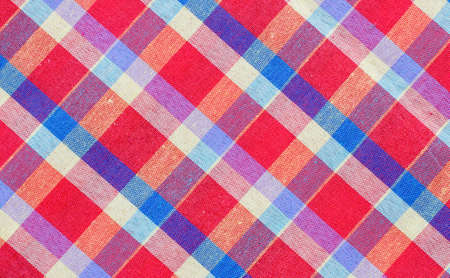 red checkered fabric tablecloth Stock Photo