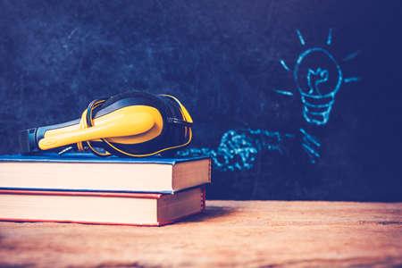 Idea concept hand drawn on blackboard