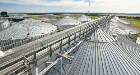 storage bin: Row of granaries for storing wheat and other cereal grains