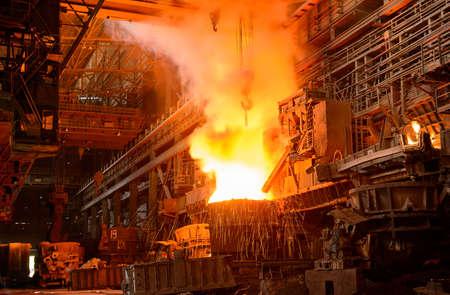 mineria: planta para la producci�n de hierro y acero Foto de archivo