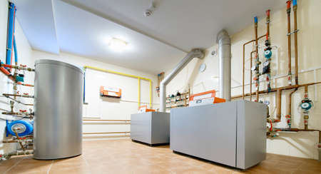 economical: economical boiler for heating private house Editorial