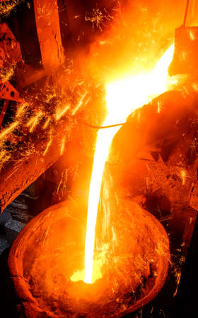 ferrous: Production of ferrous metals from iron ore is a complicated process Stock Photo