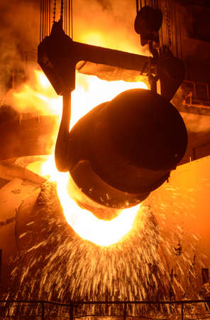 molted: Converting furnace is one of the units for the production of steel Stock Photo