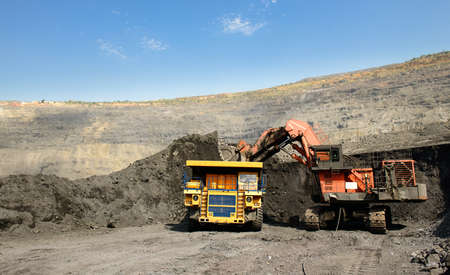 ore: Mining of iron ore by open way
