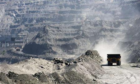 mineria: La miner�a de mineral de hierro por v�a abierta Foto de archivo