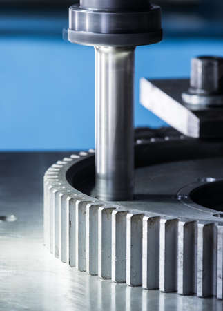 automated tooling: manufacture of precision parts and equipment Stock Photo