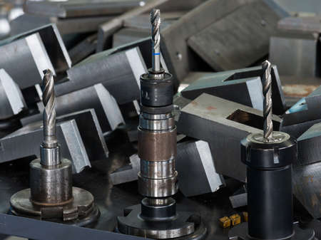 processing speed: manufacture of precision parts and equipment Stock Photo