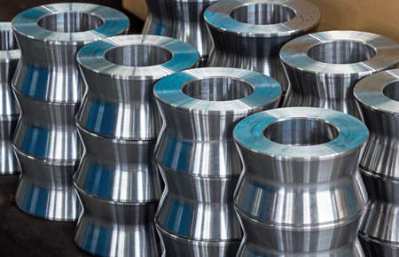 titanium: titanium and steel parts, ball-bearings, gears