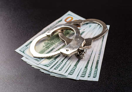 manacles: Concept For Corruption, Crime, Bribing, Fraud