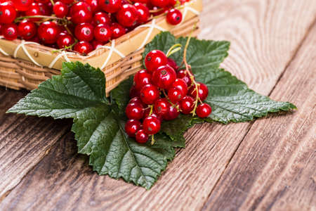 currants: Fresh currants on wooden background