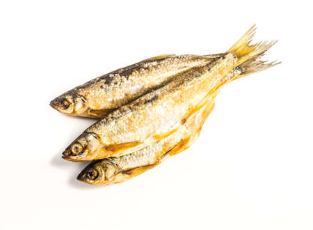 Fish dried ram it is isolated on a white background Stock Photo