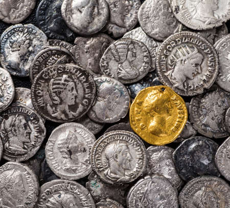gold and silver coins: Coins of the Roman Empire, gold and silver.