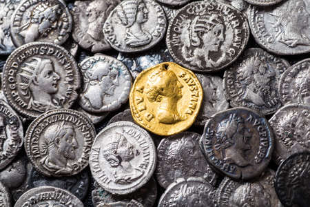 greek coins: Coins of the Roman Empire, gold and silver.
