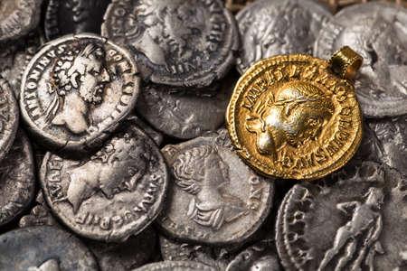 roman empire: Ancient coin of the Roman Empire.