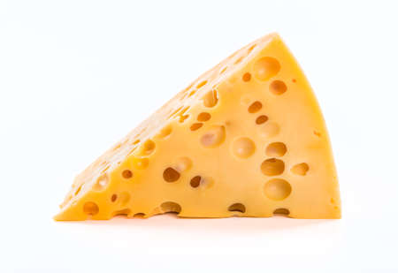 cheez: piece of cheese isolated Stock Photo
