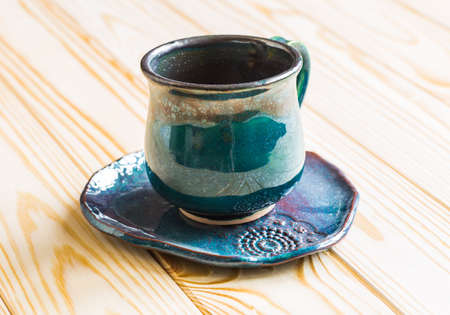 decaf: Coffee cup and saucer