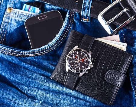 wrist strap: Men fashion and accessories, Wrist watch leather strap, Wallet, Belt.