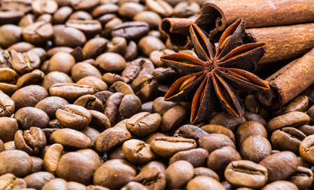 wood stain: Coffee beans background. Coffee.